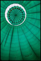 Top vent inside hot air balloon. Bagan, Myanmar ( color)