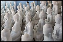 White marble buddha statues for sale. Mandalay, Myanmar ( color)