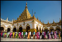 Shinbyu ceremony procession, Mahamuni Pagoda. Mandalay, Myanmar ( color)