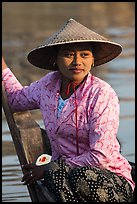 Boat rower. Mandalay, Myanmar ( color)