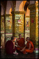 Monks in Sutaungpyei Pagoda. Mandalay, Myanmar ( color)