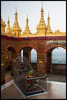 Ogre King and view from  Mandalay Hill. Mandalay, Myanmar ( color)