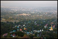 View from Mandalay Hill, early morning. Mandalay, Myanmar ( color)