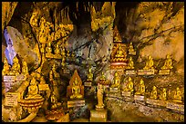 Some of 8,000 buddha images in Pindaya Caves. Pindaya, Myanmar ( color)