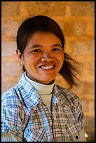 Smiling woman. Pindaya, Myanmar ( color)
