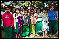 Young schoolchildren, Nyaung Shwe. Inle Lake, Myanmar ( color)