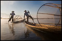 Two Intha fishermen. Inle Lake, Myanmar ( color)