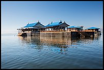Restaurant built on stilts in middle of lake. Inle Lake, Myanmar ( color)