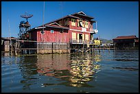 House on stilts. Inle Lake, Myanmar ( color)