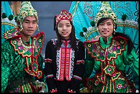 Greeters in traditional costume. Inle Lake, Myanmar ( color)