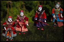 Traditional marionettes for sale. Inle Lake, Myanmar ( color)
