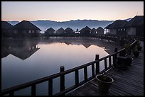 Myanmar Treasure Resort at dawn. Inle Lake, Myanmar ( color)