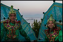Greeters at dawn. Inle Lake, Myanmar ( color)