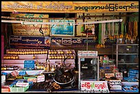 Medicinal shop on the path to the Golden Rock. Kyaiktiyo, Myanmar ( color)