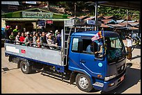 Truck carrying pilgrims to the top of Kelasa Hill. Kyaiktiyo, Myanmar ( color)