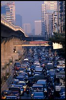 Traffic jam. Bangkok, Thailand ( color)