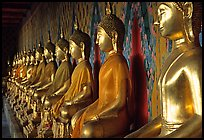 Row of Buddha figures, Wat Arun. Bangkok, Thailand ( color)
