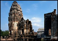 Ruins in classic Khmer-Lopburi style. Lopburi, Thailand (color)