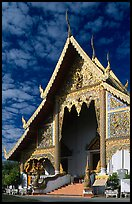 Wat Phra Singh, typical of northern Thai architecture. Chiang Mai, Thailand