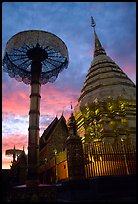 Wat Phra That Doi Suthep at sunset. Chiang Mai, Thailand