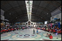 Main hall of Hualamphong train station. Bangkok, Thailand ( color)