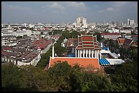 View of temples and city. Bangkok, Thailand ( color)