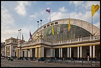 Facade of Hualamphong railroad station. Bangkok, Thailand ( color)