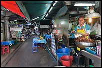 Food stall in alley. Bangkok, Thailand ( color)