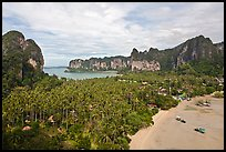 Railay peninsual seen from Laem Phra Nang. Krabi Province, Thailand ( color)