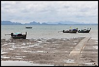Rai Leh East at low tide. Krabi Province, Thailand (color)