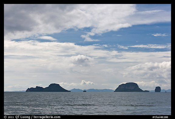 Islands, Adaman Sea. Krabi Province, Thailand (color)