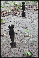 Grave markers, islamic cemetery, Phi-Phi island. Krabi Province, Thailand ( color)