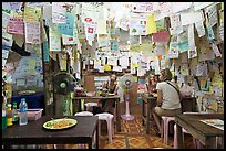 Pad Thai restaurant festoned with customer notes, Phi-Phi island. Krabi Province, Thailand ( color)