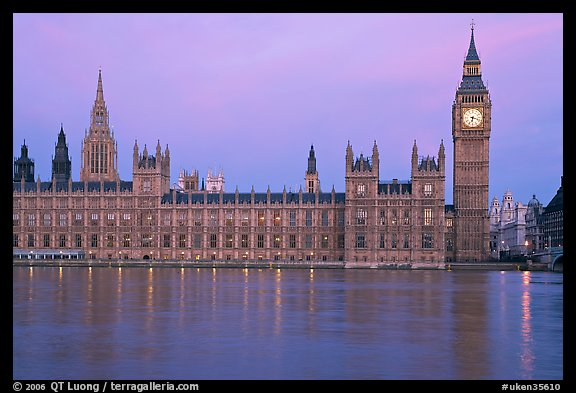Palace of Westminster at dawn. London, England, United Kingdom (color)