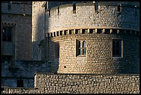 Detail of turret and wall, Tower of London. London, England, United Kingdom (color)