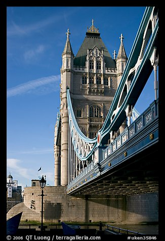 Tower Bridge from below. London, England, United Kingdom (color)