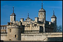 Turrets and White House, Tower of London. London, England, United Kingdom (color)