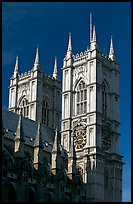 Towers of Westminster Abbey. London, England, United Kingdom (color)