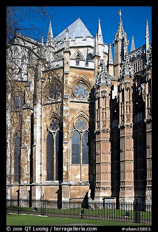 Westminster Abbey, rear view. London, England, United Kingdom (color)