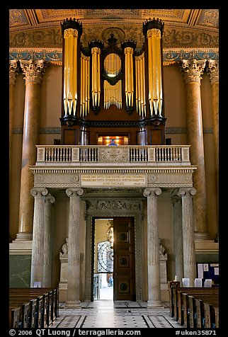 Organ in the chapel, Old Royal Naval College. Greenwich, London, England, United Kingdom (color)