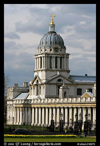 Dome of the Old Royal Naval College. Greenwich, London, England, United Kingdom (color)