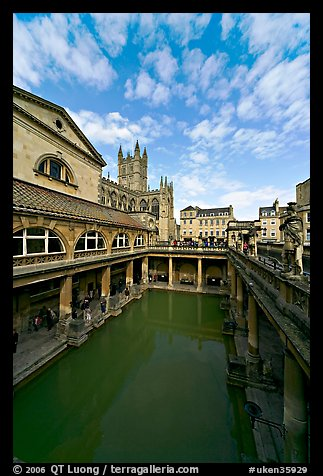 Main Pool of the Roman Bath. Bath, Somerset, England, United Kingdom (color)