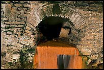 Roman-built brick channel overflow from the sacred spring. Bath, Somerset, England, United Kingdom (color)