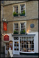 Facade of Sally Lunn House, oldest in Bath (1882). Bath, Somerset, England, United Kingdom