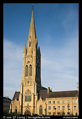 Church, late afternoon. Bath, Somerset, England, United Kingdom (color)