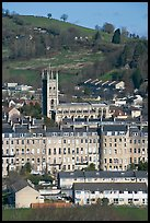 Townhouses and church. Bath, Somerset, England, United Kingdom ( color)