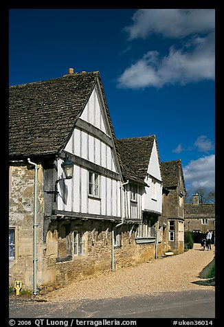 Half-timbered houses, Lacock. Wiltshire, England, United Kingdom (color)
