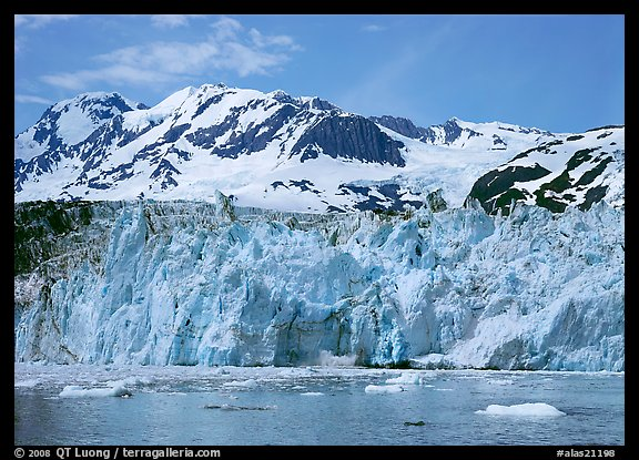 Front of Surprise Glacier. Prince William Sound, Alaska, USA (color)