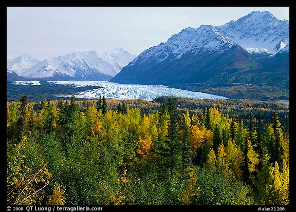Matanuska Glacier in the fall. Alaska, USA (color)