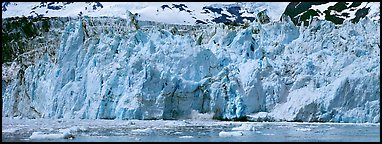 Front of tidewater glacier. Prince William Sound, Alaska, USA (Panoramic color)